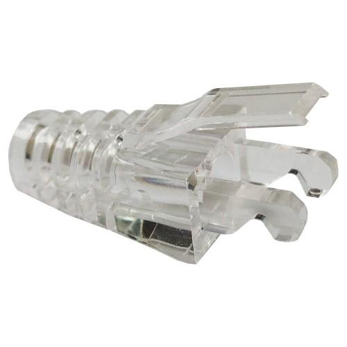 Защитные колпачки для кабеля 5,5 мм, на соединение коннектора с кабелем, прозрачные, 100 шт. в пчк