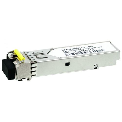 Модуль SFP WDM 1.25G, 1550nm / 1310nm, 20 km, LC, промышленный, DDM, Cisco