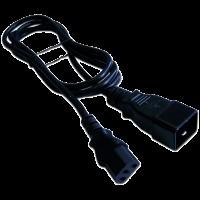 Шнур питания С13-C20, 3х0.75, 220В, 10А, черный, 5 метров LAN-PP13/20-5.0-BK