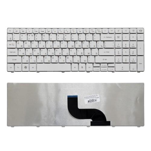 Клавиатура для ноутбука Packard Bell TM86, TX86, NEW90, PEW91 Series. Плоский Enter. Белая, без рамки. PN: MP-09B23SU-6981.