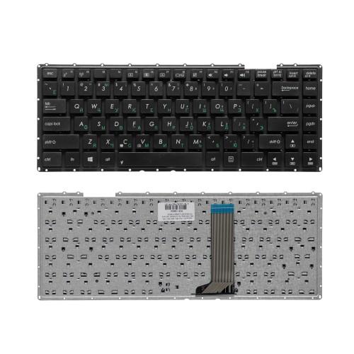 Клавиатура для ноутбука Asus X451, A450, D451, F450, X452, X453 Series. Плоский Enter. Черная, без рамки. PN: AEXJBU00110.