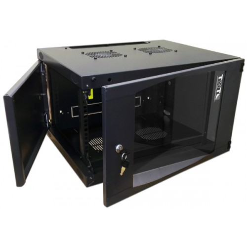 Шкаф настенный Next, 15U 550x600, стеклянная дверь, черный, 1 ЧАСТЬ