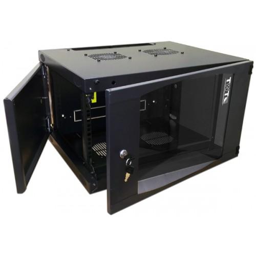 Шкаф настенный Next, 12U 550x600, стеклянная дверь, черный, 1 ЧАСТЬ