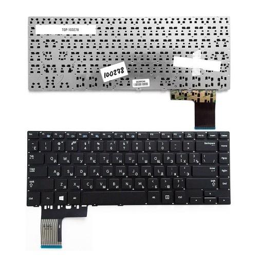 Клавиатура для ноутбука Samsung NP370R4E, NP450R4E Series. Плоский Enter. Черная, без рамки. PN: CNBA5903619.