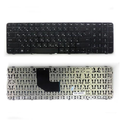 Клавиатура для ноутбука HP Pavilion G6-2000, G6-2100, G6-2200, G6-2300 Series. Плоский Enter. Черная, с черной рамкой. PN: SG-55100-XAA.