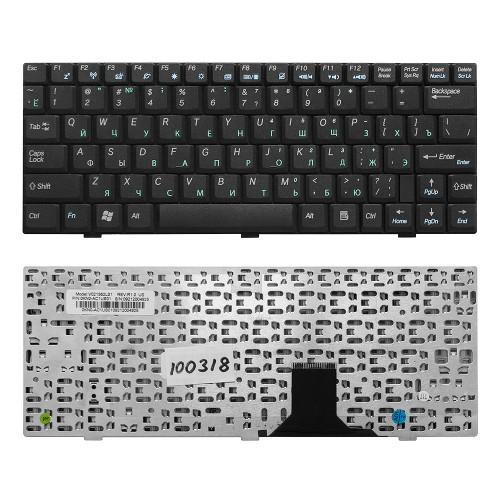 Клавиатура для ноутбука Asus U1, U1E, U1F Series. Плоский Enter. Черная, без рамки. PN: V021562CS1.