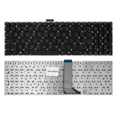Клавиатура для ноутбука Asus X502, F502, F502C, F502CA Series. Плоский Enter. Черная, без рамки. PN: 0KN0-N32RU12.