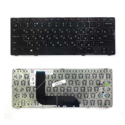Клавиатура для ноутбука Dell Inspiron N411z, 14z-5423, Vostro 3360 Series. Плоский Enter. Черная, с черной рамкой. PN: AER07700010, MP-11K53SU6920.