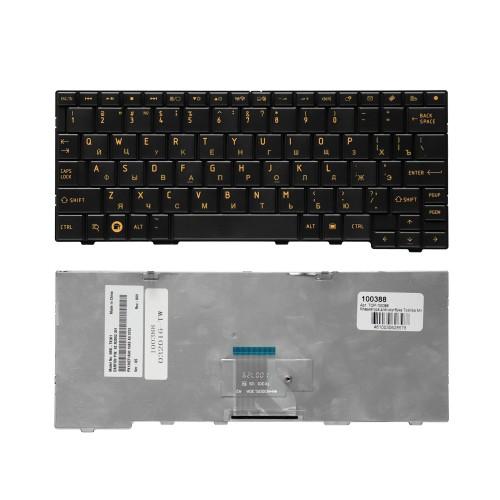 Клавиатура для ноутбука Toshiba Mini AC100 Series. Плоский Enter. Черная, без рамки. PN: NSK-TK30R.