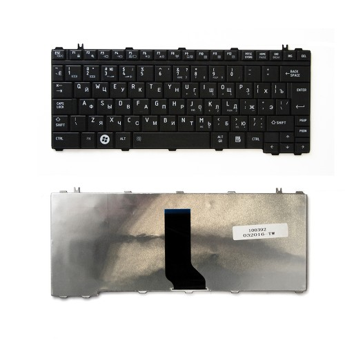 Клавиатура для ноутбука Toshiba Satellite A600, U400, M900 Series. Г-образный Enter. Черная, без рамки. PN: V101462AK1.