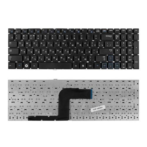 Клавиатура для ноутбука Samsung RC508, RC510, RV509 Series. Плоский Enter. Черная, без рамки. PN: BA59-02941D.