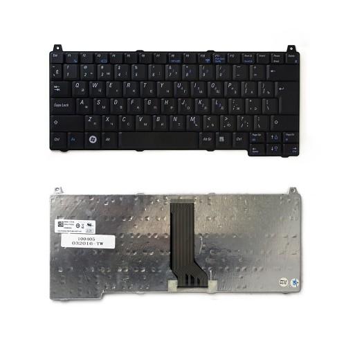 Клавиатура для ноутбука Dell Vostro 1310, 1320, 1510, 1520, 2510 Series. Г-образный Enter. Черная, без рамки. PN: NSK-ADV0R, V020902AS1.