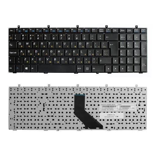 Клавиатура для ноутбука DNS W350, W370, W650 Series. Г-образный Enter. Черная, без рамки. PN: MP-12A36SU-430.
