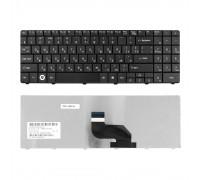 Клавиатура для ноутбука MSI A6400, CR640, CX640, DNS 0123257, 0123259, 0123260 Series. Плоский Enter. Черная, без рамки. PN: 0KN0-XV1UK18.
