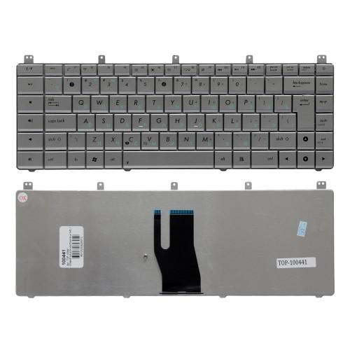 Клавиатура для ноутбука Asus N45, N45S, N45SF Series. Г-образный Enter. Серебристая, без рамки. PN: AENJ4701010.