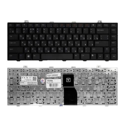 Клавиатура для ноутбука Dell Studio 1450, 1457, 1458, 15, XPS L401 Series. Плоский Enter. Черная, без рамки. PN: V100825JS1, 0MH8M3.