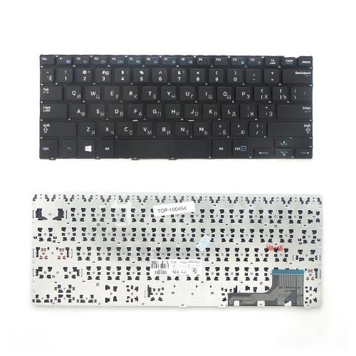 Клавиатура для ноутбука Samsung NP915S3 Series. Плоский Enter. Черная, без рамки. PN: BA59-03783C, BA59-03783D.