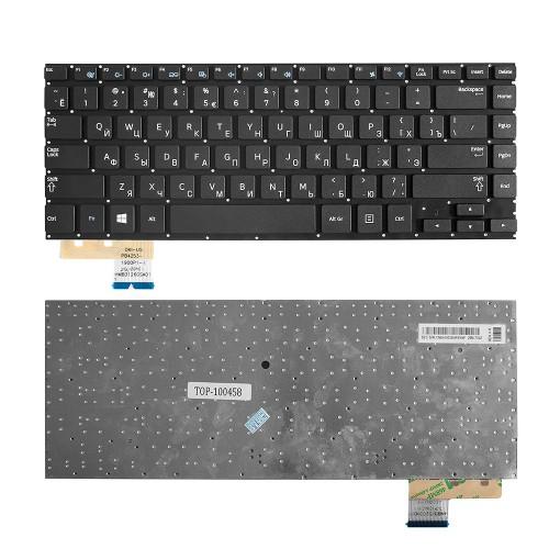 Клавиатура для ноутбука Samsung NP530U4C, NP535U4C Series. Плоский Enter. Черная, без рамки. PN: BA5903259BBYNF, CNBA5903259BBYNF.
