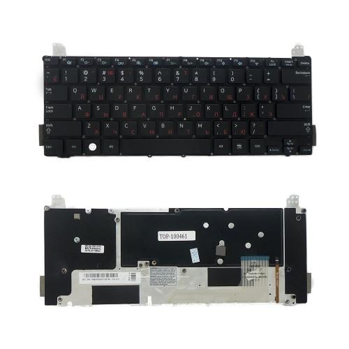Клавиатура для ноутбука Samsung NP900X1A, NP900X1B Series. Плоский Enter. Черная, без рамки. С подсветкой. PN: BA59-02907C.