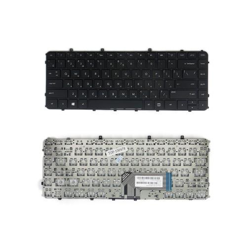 Клавиатура для ноутбука HP Envy 4-1000, 4-1100, 6-1000 Series. Плоский Enter. Черная, с черной рамкой. PN: MP-11M73SU6698.