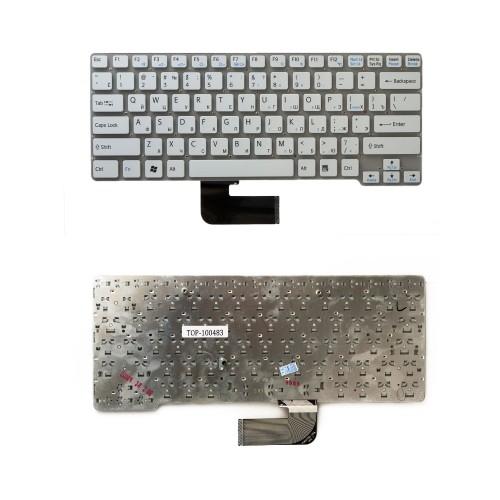 Клавиатура для ноутбука Sony Vaio VPC-CW, VGN-CW Series. Плоский Enter. Белая, без рамки. PN: 148755771.