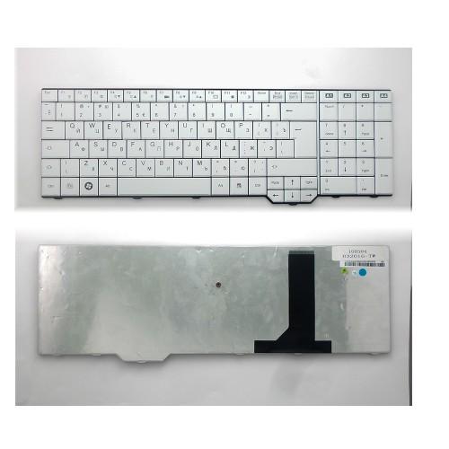 Клавиатура для ноутбука Fujitsu-Siemens Amilo Xa3530, Pi3625, Li3910, Xi3650 Series. Г-образный Enter. Белая, без рамки. PN: 080330BK2, 90.4H907.10R.