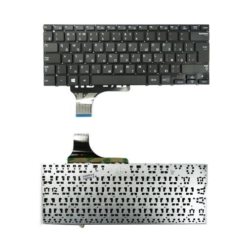 Клавиатура для ноутбука Samsung NP530U3B, NP530U3B-A02RU, NP530U3B-A03RU Series. Г-образный Enter. Черная, без рамки. PN: BA59-03254C.