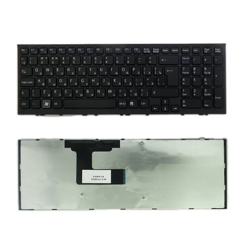 Клавиатура для ноутбука Sony Vaio VPC-EL, VPCEL Series. Г-образный Enter. Черная, с черной рамкой. PN: 148969261, 9Z.N5CSW.B0R.