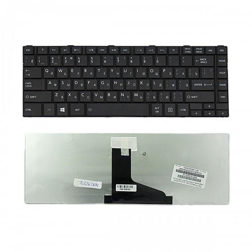 Клавиатура для ноутбука Toshiba Satellite L800, L830, M800, M805, M840 Series. Плоский Enter. Черная, без рамки. PN: 9Z.N7SSQ.10R, AEBY3700120.