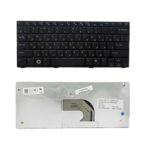 Клавиатура для ноутбука Dell Inspiron Mini 1012, 1018 series. Плоский Enter. Черная, без рамки. PN: MP-09K63SU-698, PK1309W2A06.