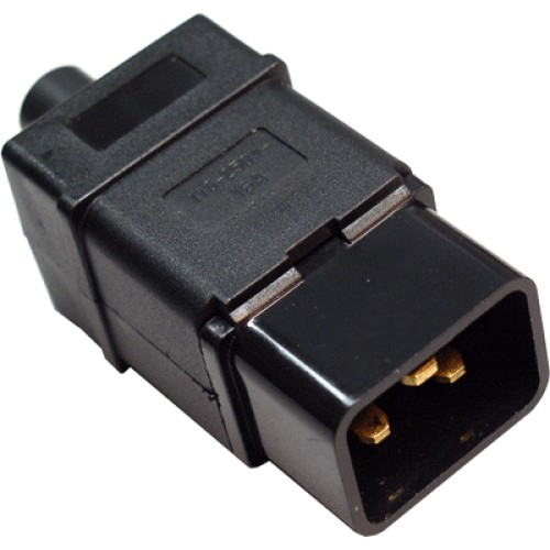 Вилка электрическая кабельная, IEC 60320, C20, 16A, 250V, разборная, черная, MDX-IEC320-C20