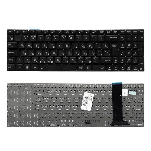 Клавиатура для ноутбука Asus G56, N56, N76 Series. Г-образный Enter. Черная, без рамки. PN: 9Z.N8BBQ.G0R.
