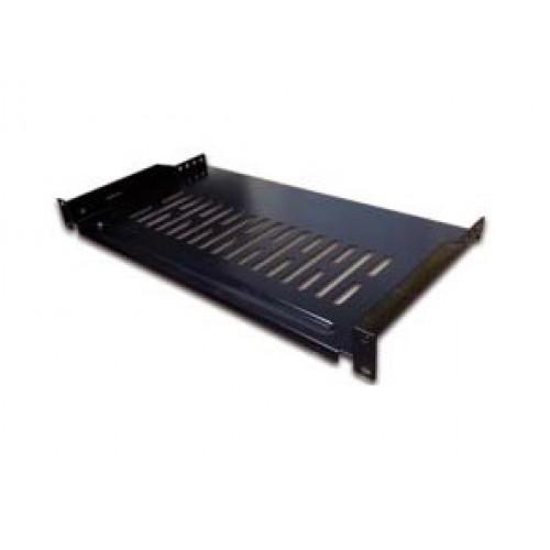 Полка консольная, с возможностью установки заднего фиксатора, глубина 300мм, 1U, 18kg TWT-CB-SFBF300-1U/18