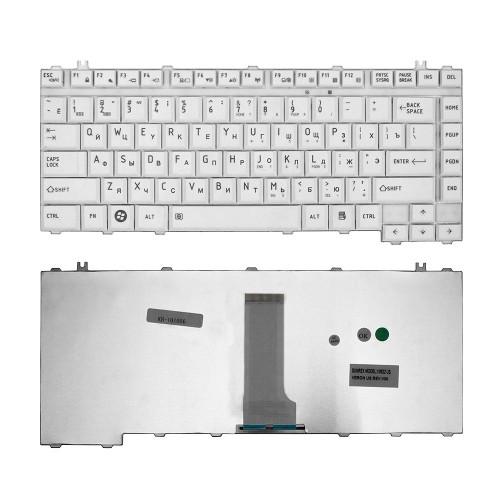 Клавиатура для ноутбука Toshiba A200, A300, M300 Series. Плоский Enter. Белая, без рамки. PN: NSK-TAJ01.