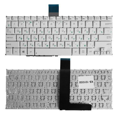 Клавиатура для ноутбука Asus F200CA, F200LA, F200MA, X200 Series. Плоский Enter. Белая, без рамки. PN: AEEX8E0110.