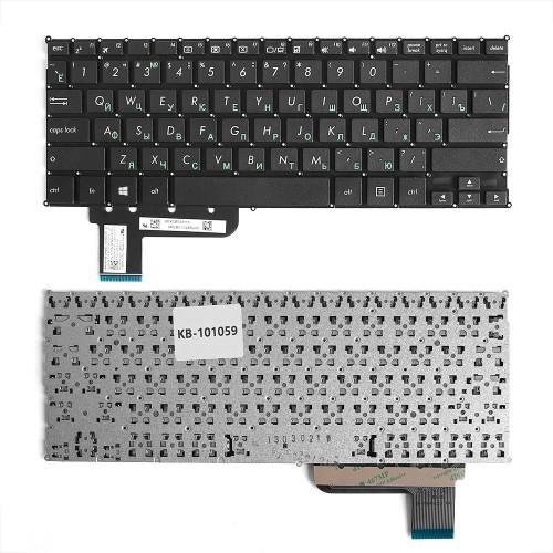Клавиатура для ноутбука Asus T200, T200T Series. Плоский Enter. Черная, без рамки. PN: 90NB06I4-R31RU0.