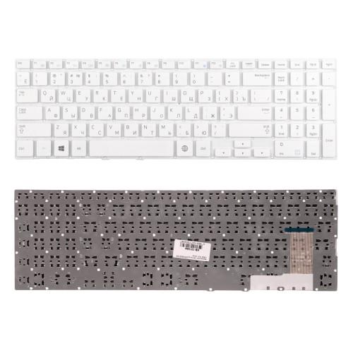 Клавиатура для ноутбука Samsung NP370R5E, NP450R5E, NP510R5E, NP470R5E. Плоский Enter. Белая, без рамки. PN: BA59-03621C.