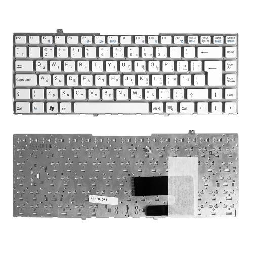 Клавиатура для ноутбука Sony Vaio VGN-FW Series. Г-образный Enter. Белая, без рамки. PN: 148084121, NSK-S810R.