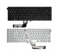 Клавиатура для ноутбука Clevo W550EU, W550EU1. Г-образный Enter. Черная, без рамки. PN: MP-12C96GB-430W.