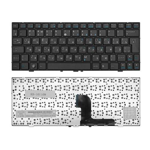 Клавиатура для ноутбука DNS 0127618, 0129680, 0138569, Medion E1226, MD98570 Series. Г-образный Enter. Черная, с черной рамкой. PN: MP-08J66B0-528B.