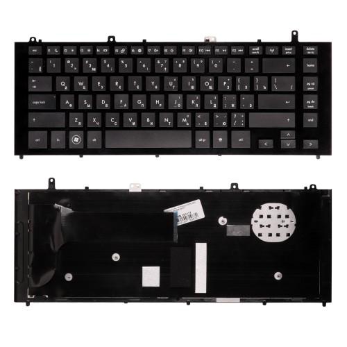 Клавиатура для ноутбука HP Probook 4320S 4420s. Плоский Enter. Черная, с рамкой. PN: 598199-B71