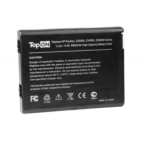 Аккумулятор для ноутбука усиленный HP Pavilion ZD8000, ZX6000, NX10, Presario R3000 Series. 14.8V 6600mAh PN: HSTNN-DB03, 346970-001