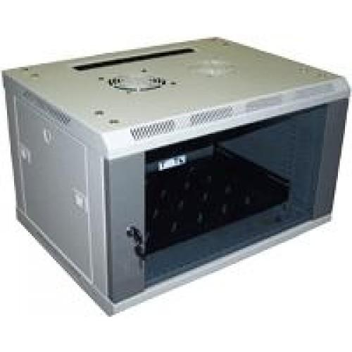 Шкаф настенный Pro 18U 600x600 стеклянная дверь, 2 ЧАСТИ