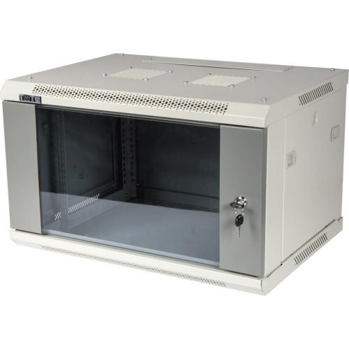 Шкаф настенный Pro 6U 600x450 стеклянная дверь, 2 ЧАСТИ