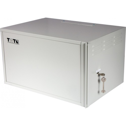 Шкаф антивандальный пенального типа, 6U 600x400 мм, серый,  TWT-CBWSF-6U-6x4-GY, 1 ЧАСТЬ