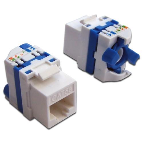 Вставка Keystone Tooless RJ-45, категория 5e, белая, без инструмента, LANMASTER LAN-TK45U5E/180-WH