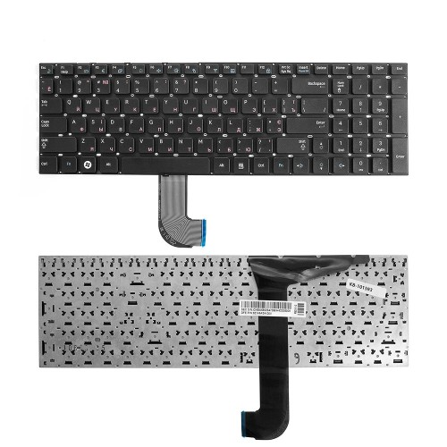 Клавиатура для ноутбука Samsung RC730, RF710, RF711 Series. Плоский Enter. Черная, без рамки. PN: NSK-MD0SN 0R.
