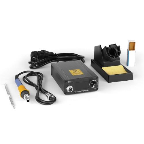 Процессорная паяльная станция DSK T12-D OLED на 72W для работы со сменными жалами HAKKO T12 и T2 Series.