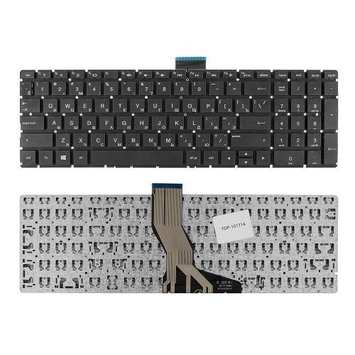 Клавиатура для ноутбука HP Pavilion 15-ab, 15-ak, 5-z, 15-au, 15-ae, 17-g Series. Плоский Enter. Черная, без рамки. PN: 809031-251.