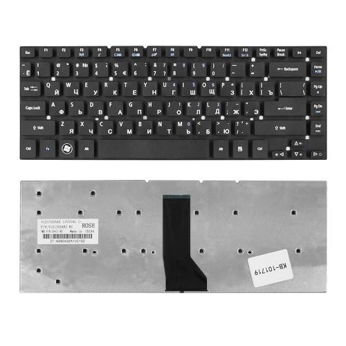 Клавиатура для ноутбука Acer Aspire 3830T, 4830T Series. Г-образный Enter. Черная, без рамки. PN: KBI140A292.